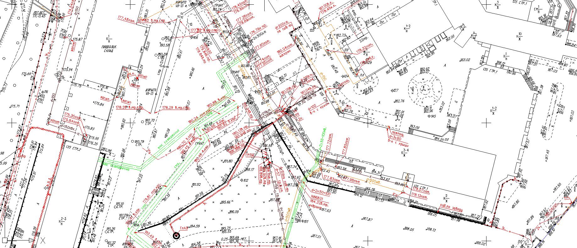 Электрическая схема подземного участка